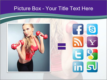 Lady Training with Red Dumbbells PowerPoint Templates - Slide 21