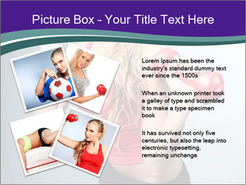 Lady Training with Red Dumbbells PowerPoint Templates - Slide 23