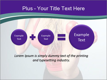 Lady Training with Red Dumbbells PowerPoint Templates - Slide 75