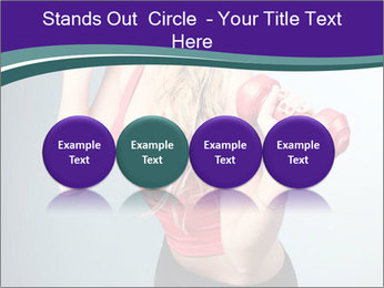 Lady Training with Red Dumbbells PowerPoint Templates - Slide 76