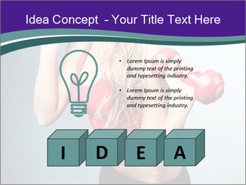 Lady Training with Red Dumbbells PowerPoint Templates - Slide 80