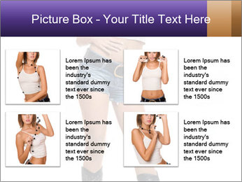 Young Woman in Denim Shorts PowerPoint Template - Slide 14