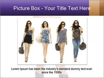 Young Woman in Denim Shorts PowerPoint Template - Slide 15