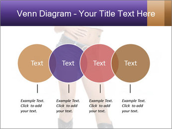 Young Woman in Denim Shorts PowerPoint Template - Slide 32
