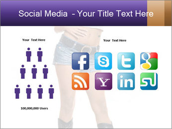 Young Woman in Denim Shorts PowerPoint Template - Slide 5