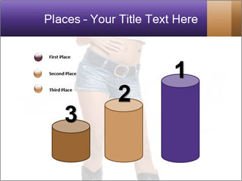 Young Woman in Denim Shorts PowerPoint Template - Slide 65