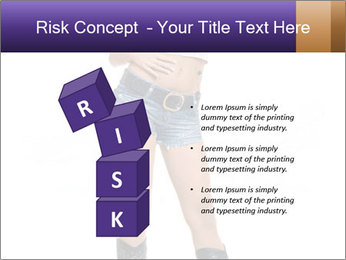 Young Woman in Denim Shorts PowerPoint Template - Slide 81