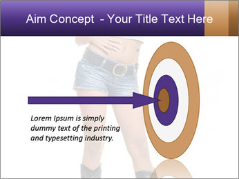 Young Woman in Denim Shorts PowerPoint Template - Slide 83