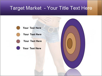 Young Woman in Denim Shorts PowerPoint Template - Slide 84
