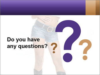 Young Woman in Denim Shorts PowerPoint Template - Slide 96