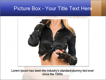 Denim Woman in White Top PowerPoint Templates - Slide 15