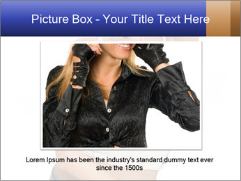Denim Woman in White Top PowerPoint Templates - Slide 16