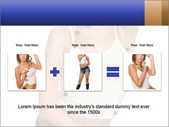 Denim Woman in White Top PowerPoint Templates - Slide 22