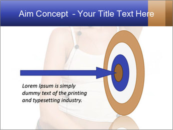 Denim Woman in White Top PowerPoint Templates - Slide 83