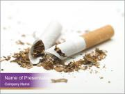 Damaged Cigarette PowerPoint Templates