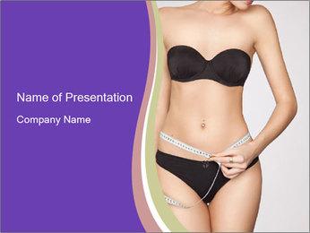 Slimming Woman PowerPoint Template - Slide 1