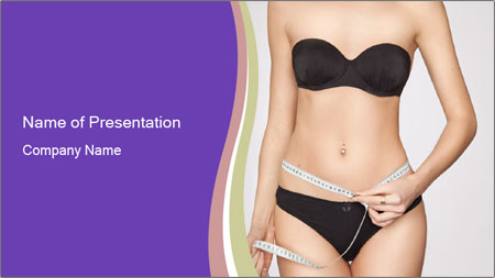 Slimming Woman PowerPoint Template