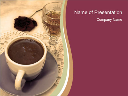 brandy and black coffee powerpoint template