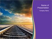Railway and Sunrise PowerPoint Templates