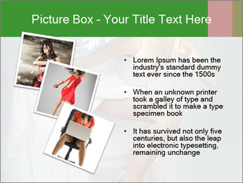 Bride in Snowy White Dress PowerPoint Template - Slide 17