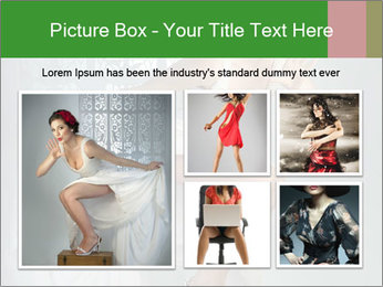 Bride in Snowy White Dress PowerPoint Template - Slide 19