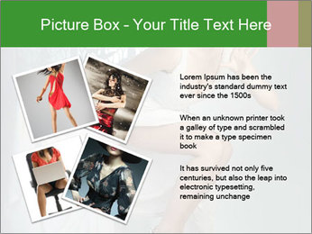 Bride in Snowy White Dress PowerPoint Template - Slide 23