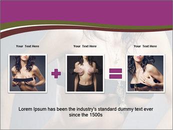 Topless Model PowerPoint Template - Slide 22