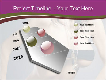 Topless Model PowerPoint Template - Slide 26
