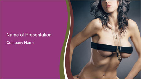 Topless Model PowerPoint Template