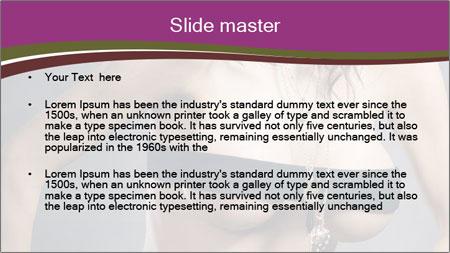 Topless Model PowerPoint Template - Slide 2