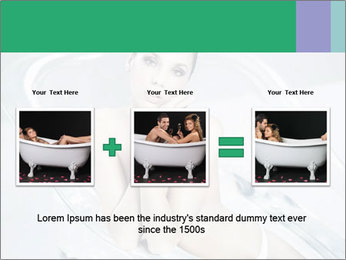 Naked WomanSitting in Glass Bathtub PowerPoint Template - Slide 22