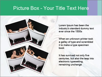 Naked WomanSitting in Glass Bathtub PowerPoint Template - Slide 23