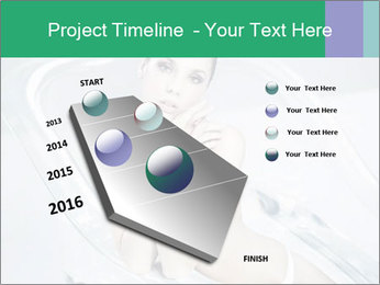 Naked WomanSitting in Glass Bathtub PowerPoint Templates - Slide 26