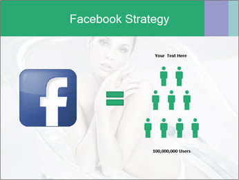 Naked WomanSitting in Glass Bathtub PowerPoint Template - Slide 7