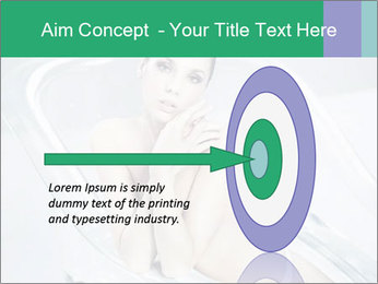 Naked WomanSitting in Glass Bathtub PowerPoint Template - Slide 83