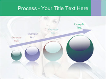 Naked WomanSitting in Glass Bathtub PowerPoint Template - Slide 87