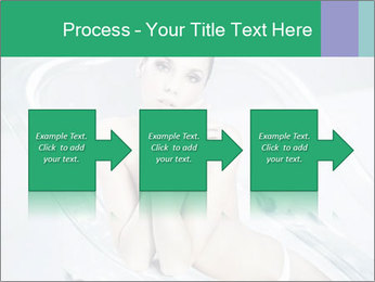 Naked WomanSitting in Glass Bathtub PowerPoint Template - Slide 88