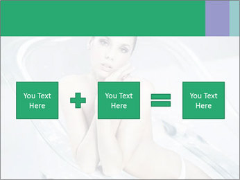 Naked WomanSitting in Glass Bathtub PowerPoint Template - Slide 95