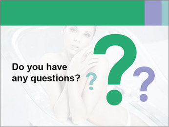 Naked WomanSitting in Glass Bathtub PowerPoint Template - Slide 96