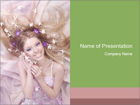 Lilac Lady PowerPoint Templates
