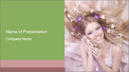 Lilac Lady PowerPoint Template