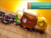 Black Tea with Herbs PowerPoint Templates