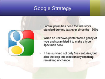 Surprised Girl with Card PowerPoint Template - Slide 10
