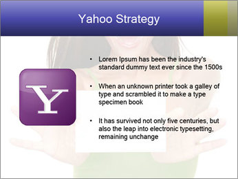 Surprised Girl with Card PowerPoint Template - Slide 11