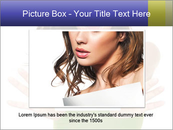 Surprised Girl with Card PowerPoint Template - Slide 16