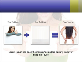 Surprised Girl with Card PowerPoint Template - Slide 22