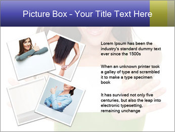 Surprised Girl with Card PowerPoint Template - Slide 23