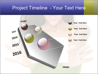 Surprised Girl with Card PowerPoint Template - Slide 26