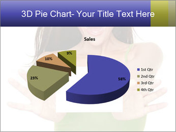 Surprised Girl with Card PowerPoint Templates - Slide 35