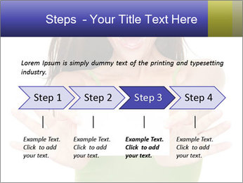 Surprised Girl with Card PowerPoint Template - Slide 4